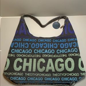 Robin Ruth Chicago tote gray, blue, green